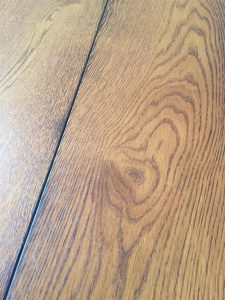 Darkwood Oak flooring, reclaimed plank affect with oil finish