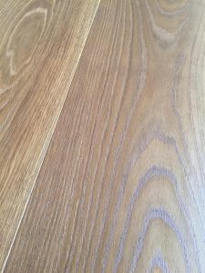 Warm Oak toned flooring, brushed, stained engineered planks