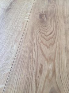 Character engineered light Oak flooring, hard wax oil finish