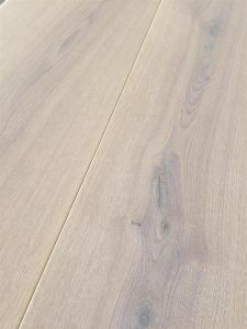 Whitewashed light Oak flooring, white hard wax oil finish