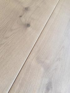 Natural light engineered Oak flooring, clear matt oil finish