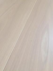 White American Oak flooring, whitewash tinted lacquer finish