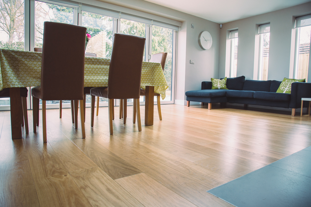 Classic French Engineered Prime Oak Flooring With Hardwax Oil In Dining Room