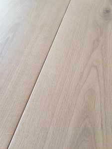 Light engineered Oak flooring, natural oil finish