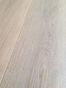 Medium grey Oak flooring, coloured with oil finish