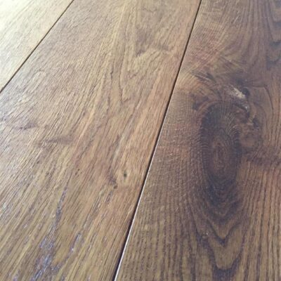 Dark wood flooring. Smoked oak with hard wax oil finish.