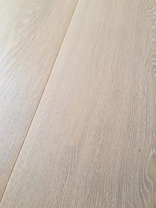 Mid grey Oak flooring, bushed with oil finish
