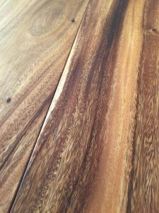 Tropical timber dark wood flooring, rich natural tones with hard wax oil finish